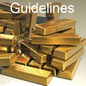 (3) Gold Dore Bar Guidelines